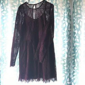 Xhilaration purple dress size L